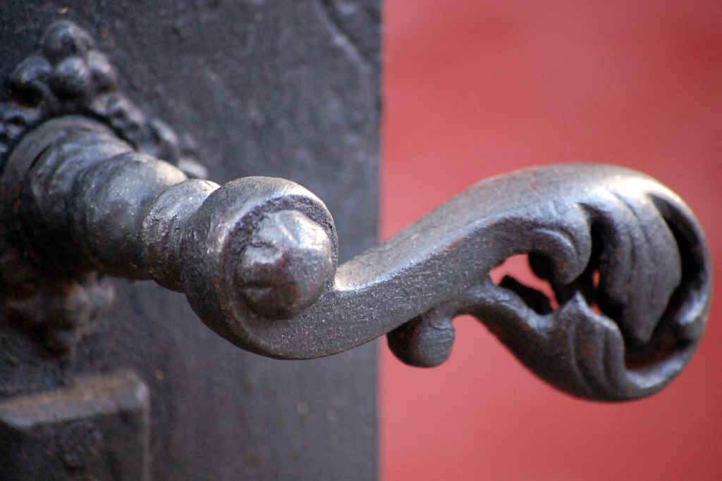 Cast iron door handle