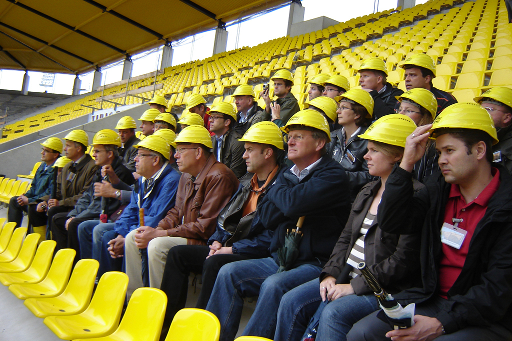 RWTH Aachen Alumni visit the Tivoli construction site