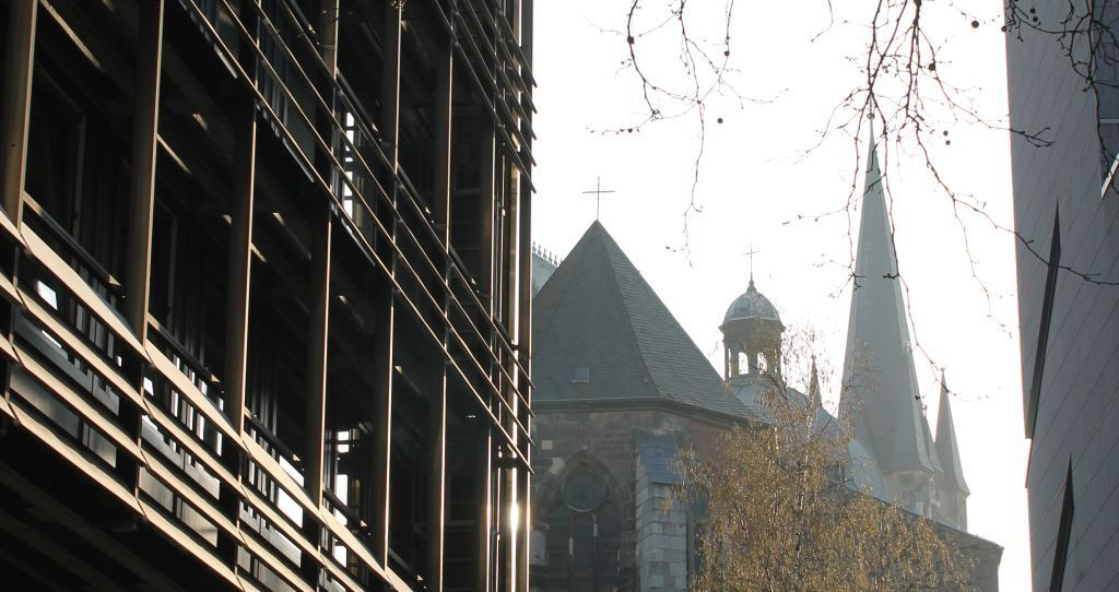 View of the Aachen cathedral