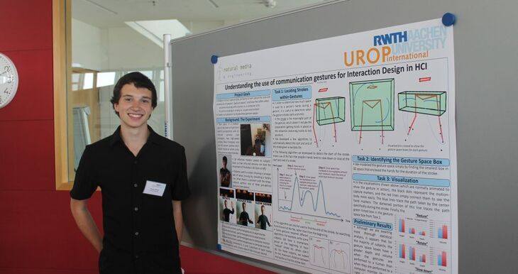 Poster Presentation by a UROP student
