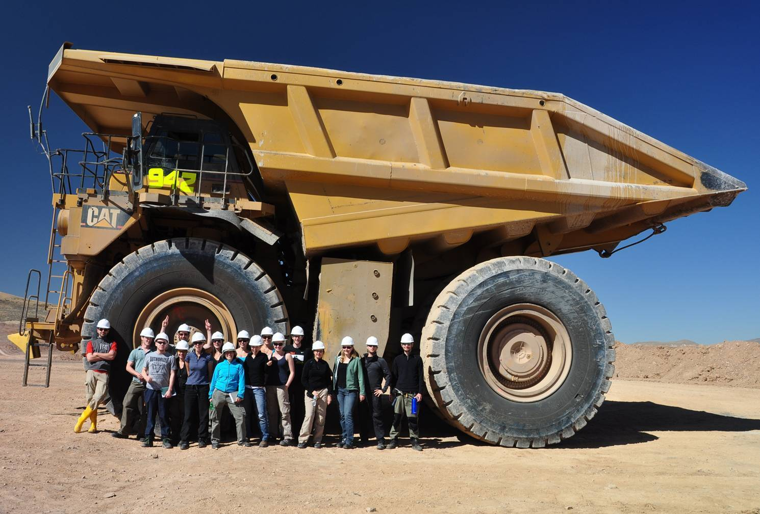 Group in front of back loader
