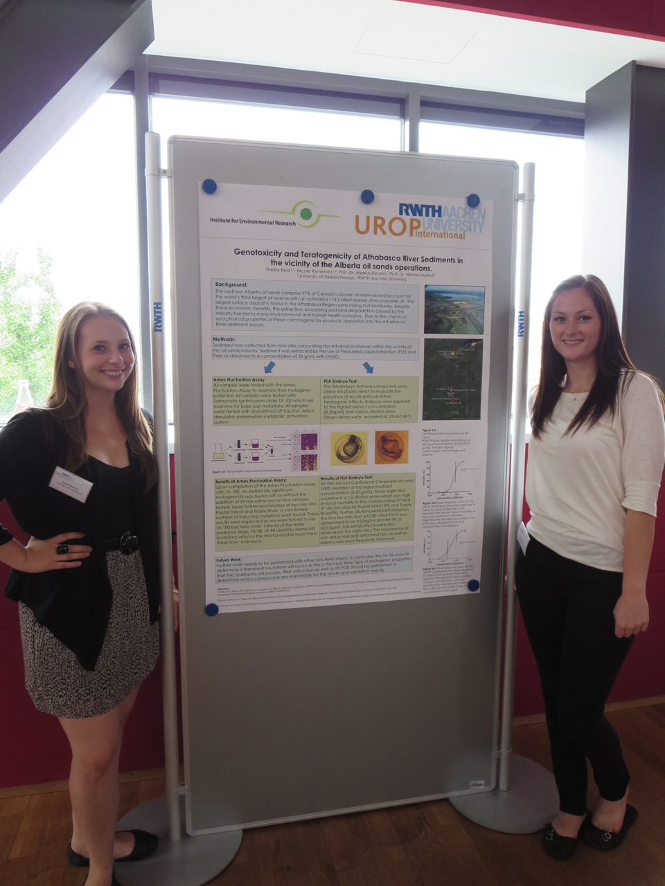 Nicole Remenda and Shelby Reid from the University of Saskatchewan, Canada
