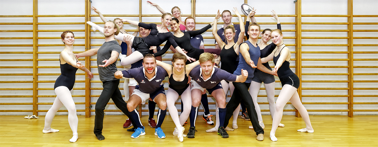 The RWTH Aachen Ballet and Rugby Teams