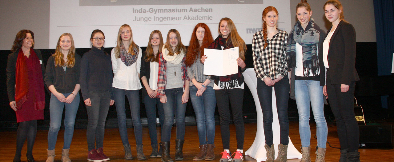"""Junior Ingenieur Akademie"" at the Inda Secondary School in Aachen-Kornelim�nster"