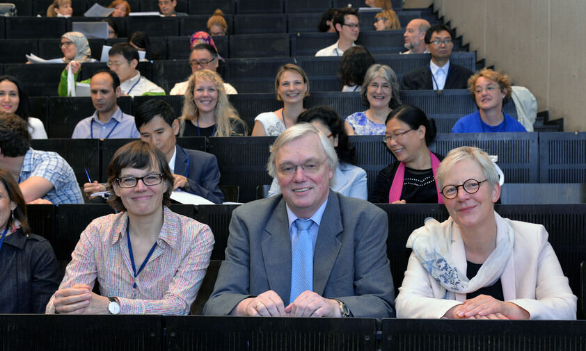 Professors Stella Neumann, Aloys Krieg, and Christine Roll at the ISFC 2015 (from left)