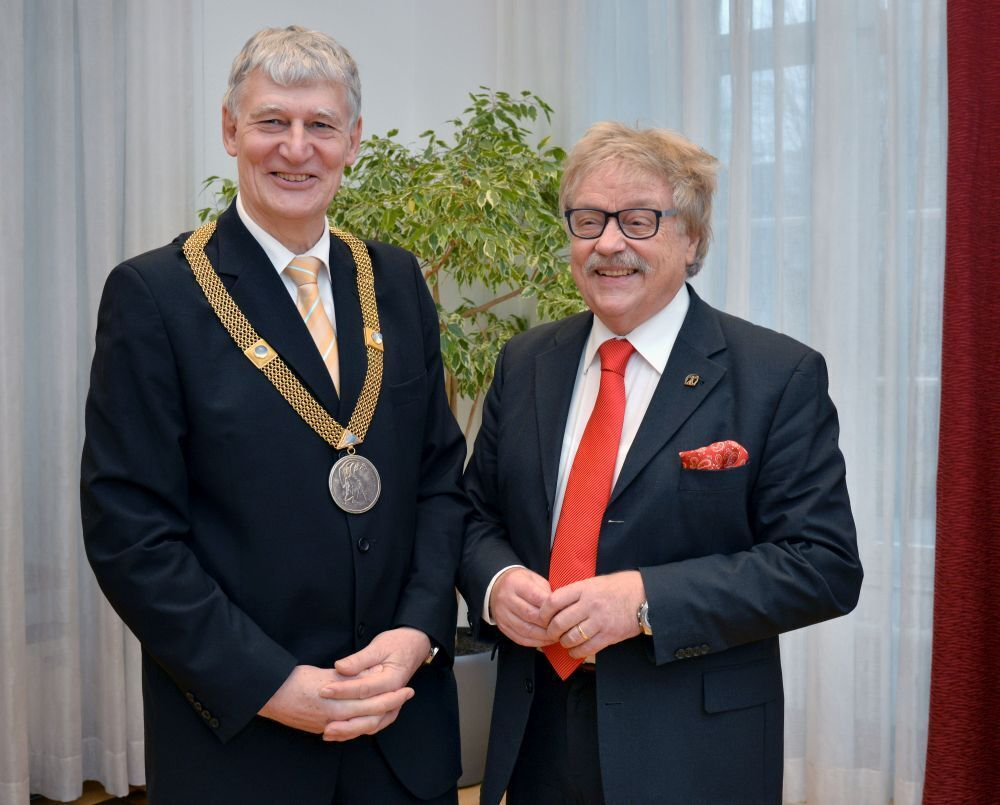 Rector Schmachtenberg with Professor Max Kerner