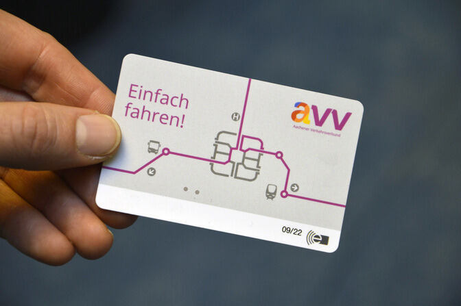 eTicket in a hand