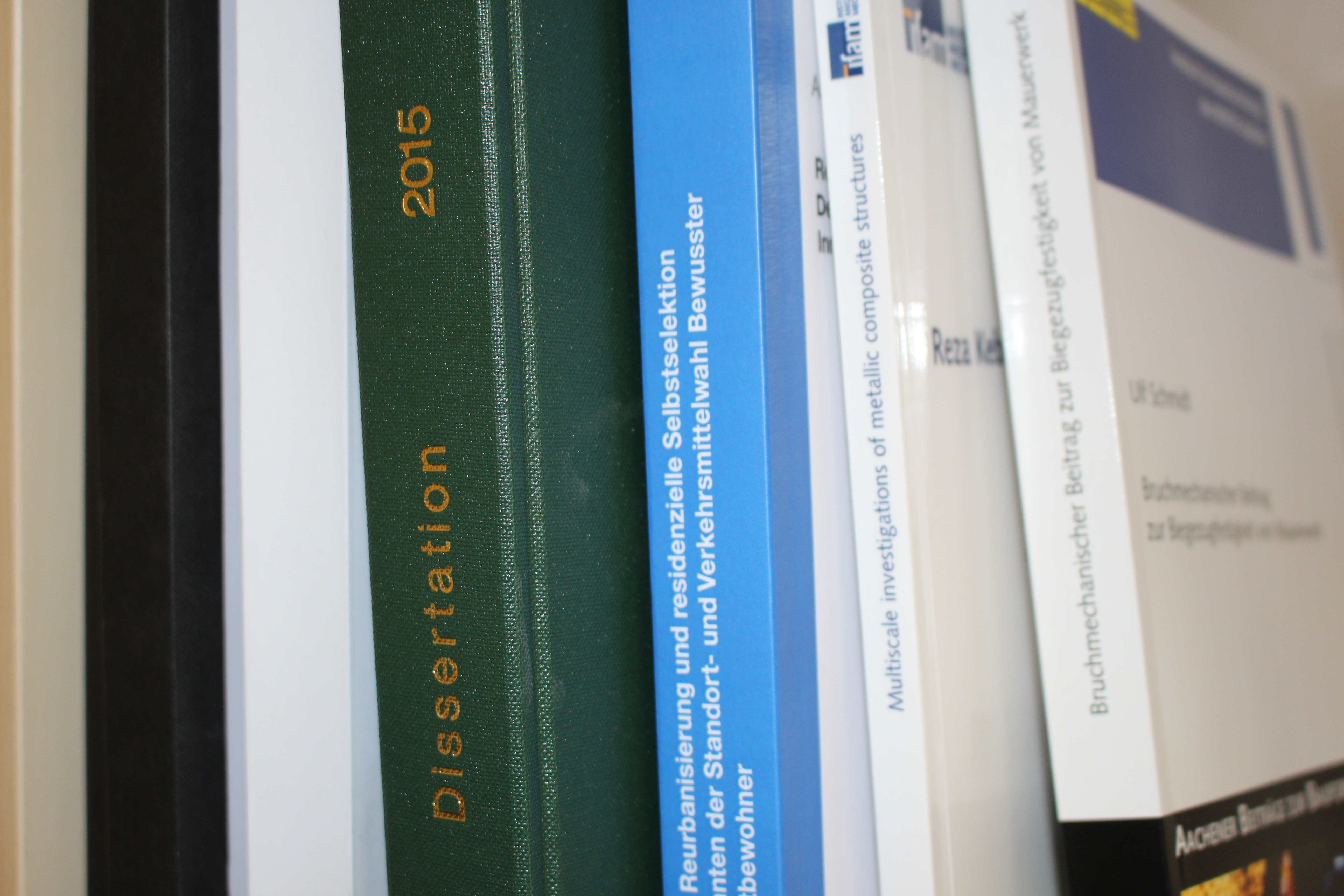 The spine of a few dissertations