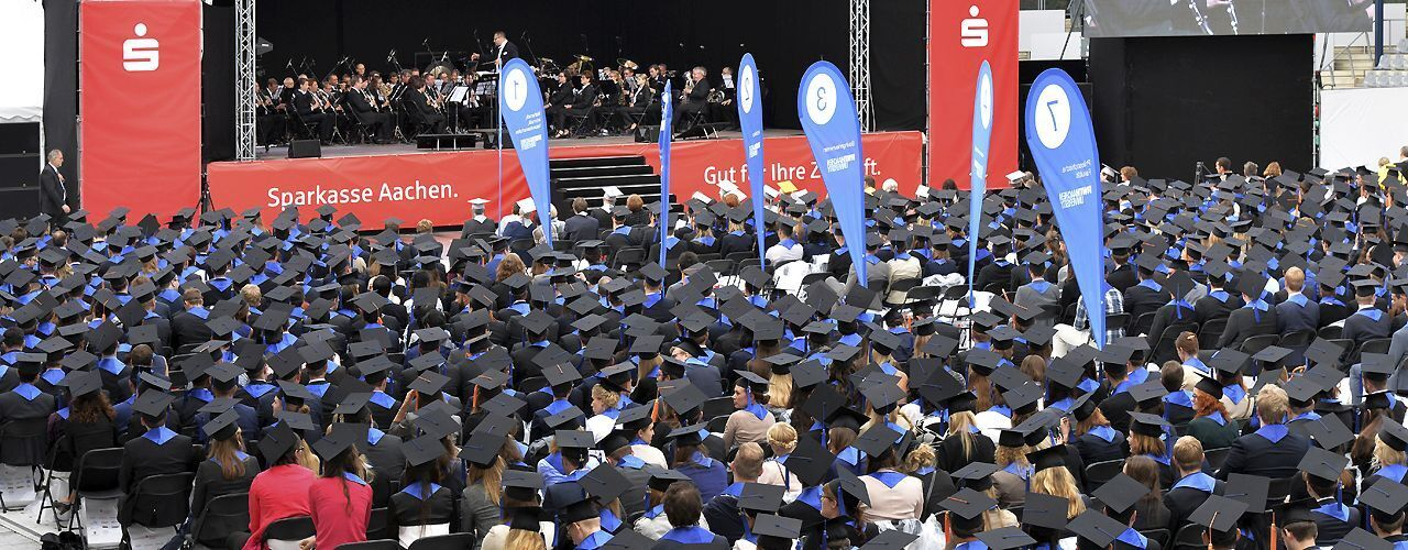 RWTH graduates during the ceremony