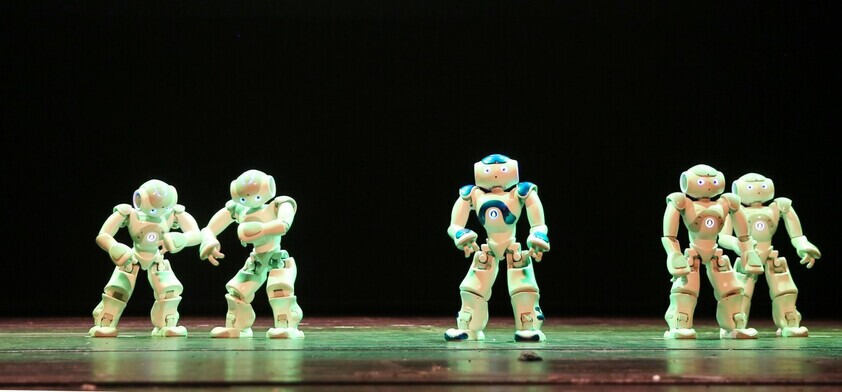 Robots on a stage