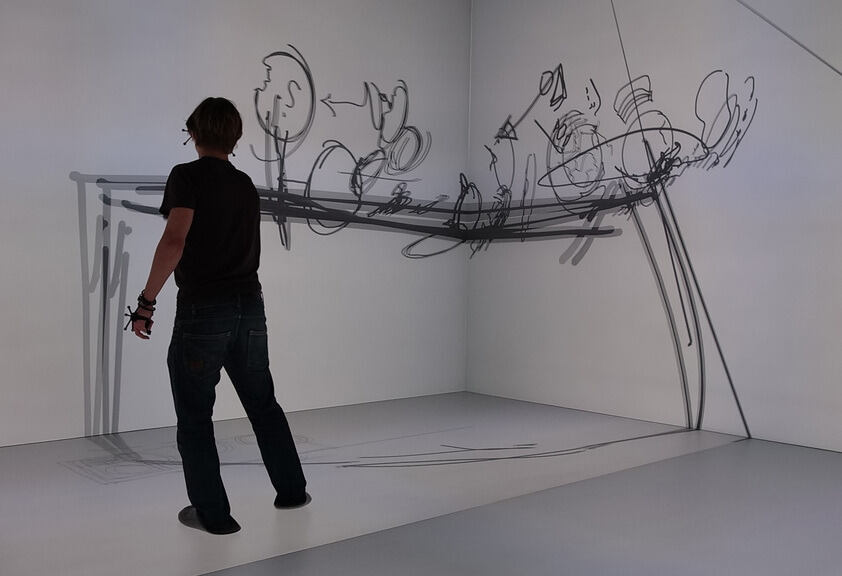 Person demonstrates Virtual Sketching