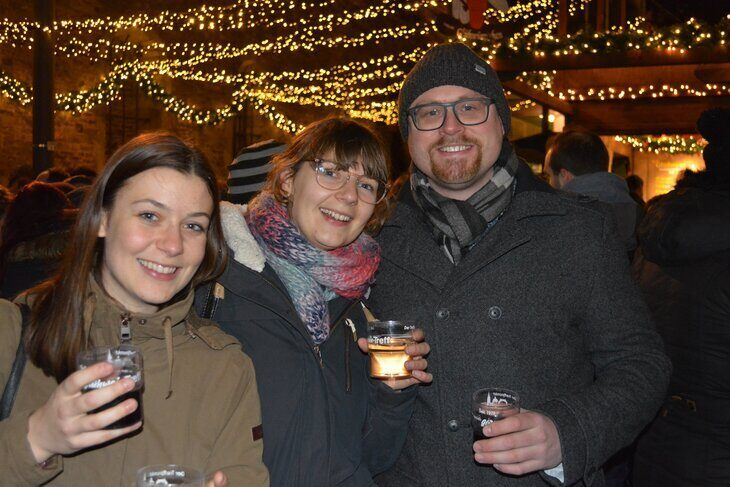 AVT colleagues at the christmas market