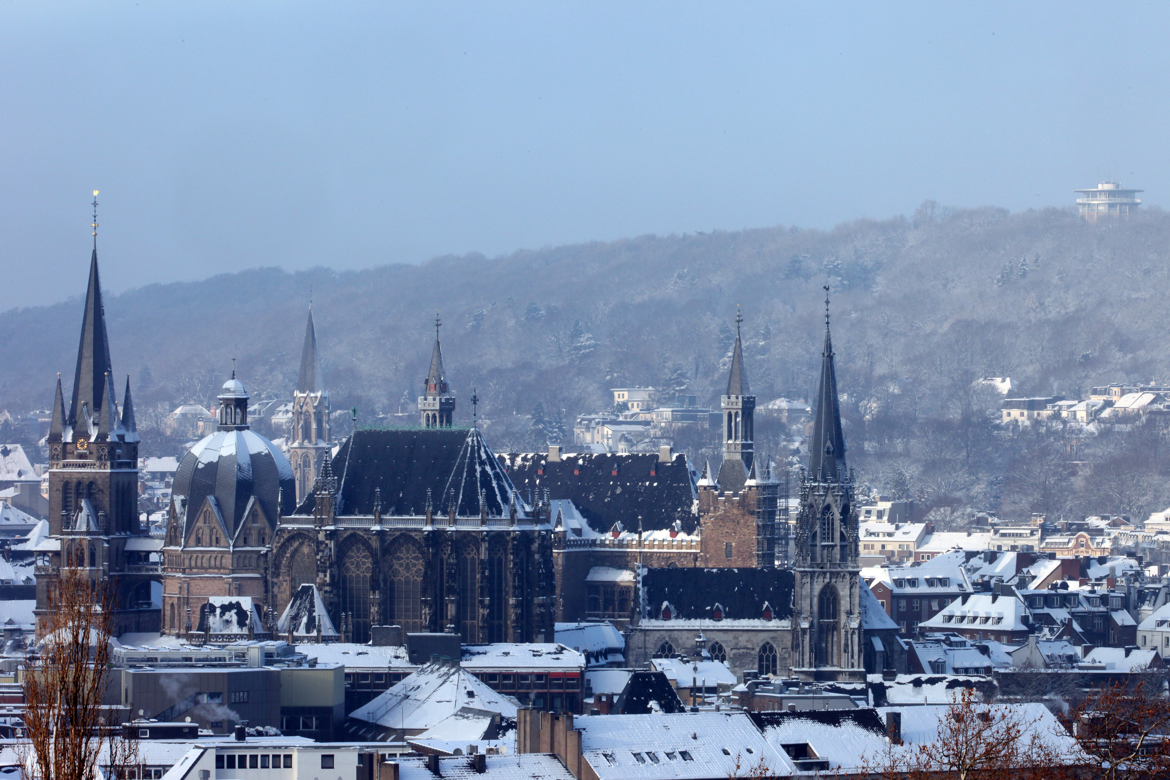 Aachen in winter time