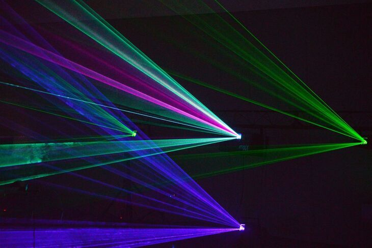 Bright laser rays