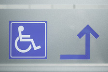 Wheelchair symbol on a sign