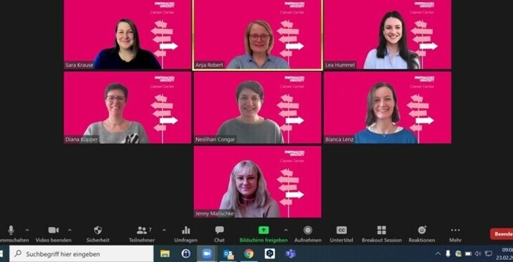 Screenshot of a zoom conference with many participants